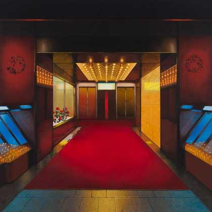 齋藤芽生, ロビリンス〜ロゼット・ネビュラ・パレス(薔薇星雲の宮殿), 2012年, 70×70cm, アクリル、木製パネル