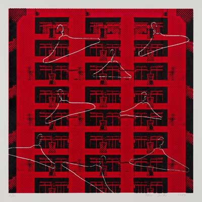 齋藤芽生, 夜光族3, 2012年, 47.5×47.5cm, シルクスクリーン、紙