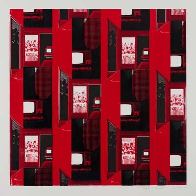 齋藤芽生, 夜光族4, 2012年, 47.5×47.5cm, シルクスクリーン、紙
