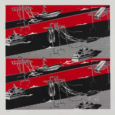 齋藤芽生, 夜光族5, 2012年, 47.5×47.5cm, シルクスクリーン、紙