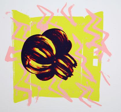 Mika YOSHIZAWA - わ-86(稲妻) , 2007 , シルクスクリーン , 351×402mm , ed.70