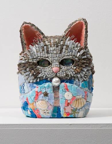 Kayo NISHINOMIYA - 拾陸ノ姫・真珠 2014 21.0×17.0×19.0cm Mosaic