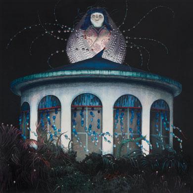 Meo SAITO - 獣道八十八号線 「 絶海泡沫浴場 ( ぜっかいうたかたよくじょう ) 」 , 2011 , 35×35cm