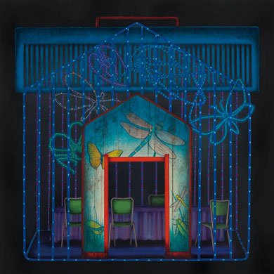 Meo SAITO - 獣道八十八号線 「 静聴亭-すず虫 」 , 2011 , 35×35cm