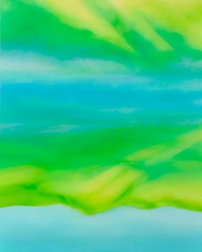 富岡直子  朝映え‐Ⅰ  2014  アクリル、麻キャンバス、パネル  162×130 cm  (C) Naoko Tomioka