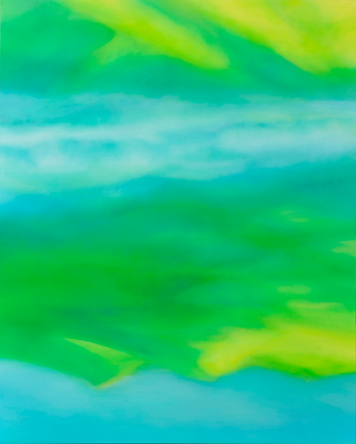 富岡直子  朝映え‐Ⅱ  2014  アクリル、麻キャンバス、パネル  162×130 cm  (C) Naoko Tomioka