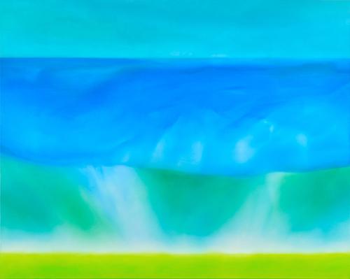 富岡直子  resonance‐Ⅰ  2008  アクリル、麻キャンバス、パネル  72.2×91 cm  (C) Naoko Tomioka