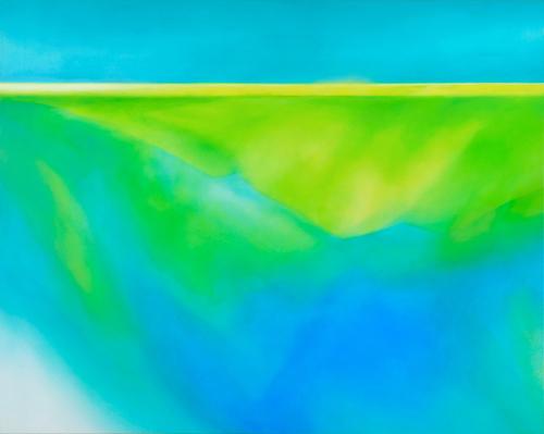 富岡直子  resonance‐Ⅱ  2008  アクリル、麻キャンバス、パネル  72.2×91 cm  (C) Naoko Tomioka