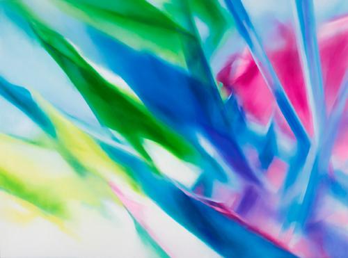 富岡直子  03-06  2003  アクリル、綿布、パネル  155×210 cm  (C) Naoko Tomioka, Photo (C) Tatsuhiko NAKAGAWA