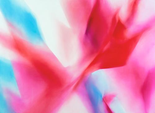 富岡直子  02-12  2002  アクリル、綿布、パネル   155×210 cm  (C) Naoko Tomioka, Photo (C) Tatsuhiko NAKAGAWA
