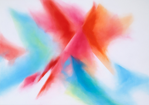 富岡直子  99-09  1999  アクリル、綿布、パネル   160×227 cm  (C) Naoko Tomioka, Photo (C) Tatsuhiko NAKAGAWA
