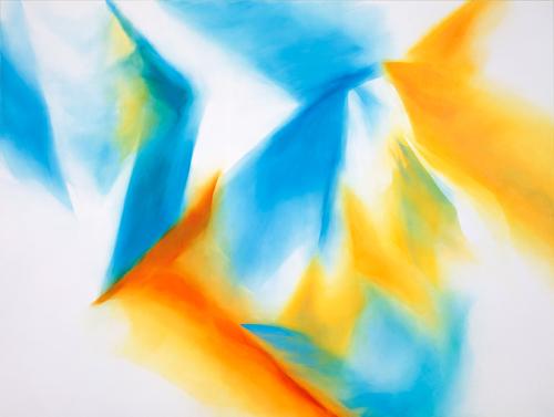富岡直子  99-04  1999  アクリル、綿布、パネル  190×250 cm  (C) Naoko Tomioka, Photo (C) Tatsuhiko NAKAGAWA