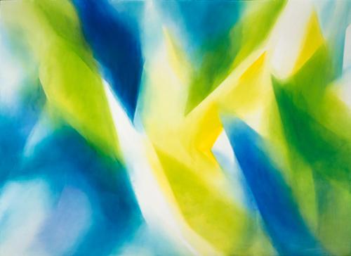 富岡直子  96-05  1996  アクリル、油彩、綿布、パネル  197×271 cm  (C) Naoko Tomioka, Photo (C) Ryoji TAKEMI
