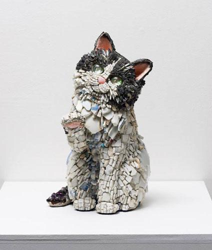 西ノ宮佳代 - 慈 (いつくしみ) 2014年 23.0×17.0×15.0cm モザイク