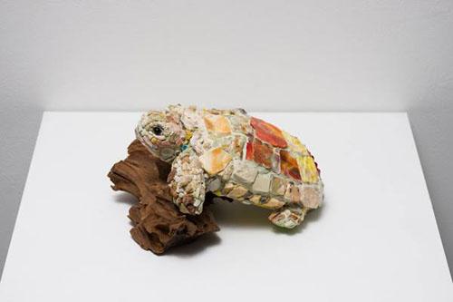 西ノ宮佳代 - 千歳の衣 2014年 20.0×18.0×6.0cm モザイク