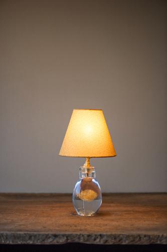 イイノナホ Kirakira lamp ガラス、布 W17.0xH30.0cm