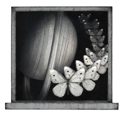 Meo Saito - 帰蝶星団 (きちょうせいだん), 2014, 19.6×20.5cm シート32x32cm, シルクスクリーン、紙 15版16色