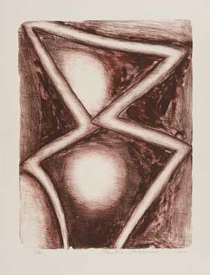 Toeko TATSUNO - 2011-P004   AIWIP-4  ed.1/30  2011  リトグラフlithograph on paper 64.5×49.0(79.0×60.5)cm