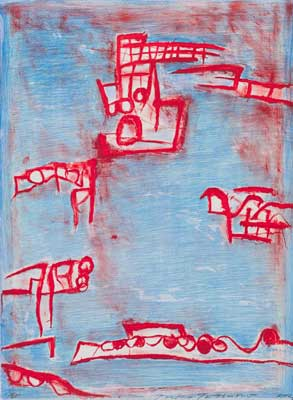 Toeko TATSUNO - 2012-P002  AIWIP-21  2012  リトグラフlithograph on paper 65.4×48.2(65.4×48.2)cm