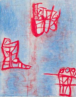 Toeko TATSUNO - 2012-P004  AIWIP-23  2012  リトグラフlithograph on paper 65.0×51.0(65.0×51.0)cm
