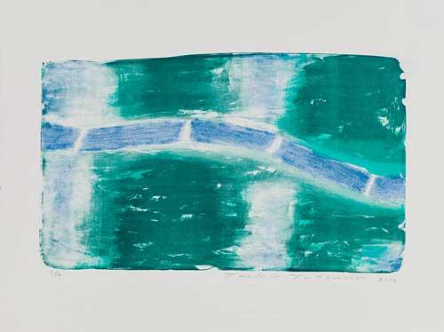 Toeko TATSUNO - 2012-P005  AIWIP-24  2012  リトグラフlithograph on paper 32.0×53.5(49.0×65.5)cm