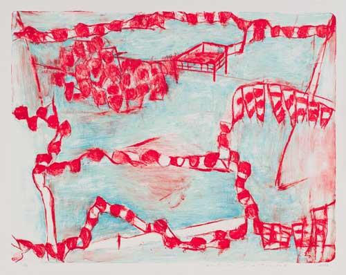 Toeko TATSUNO - 2012-P006  AIWIP-25  2012  リトグラフlithograph on paper 63.0×81.5(69.3×87.0)cm