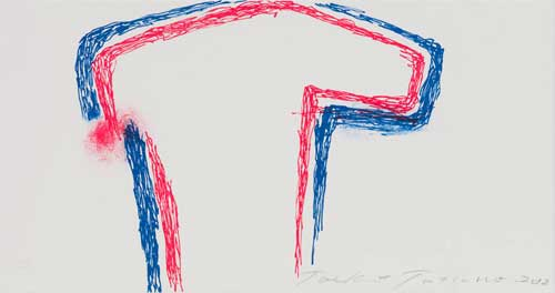 Toeko TATSUNO - 2012-P007  AIWIP-26  2012  リトグラフlithograph on paper 20.1×38.0(20.1×38.0)cm
