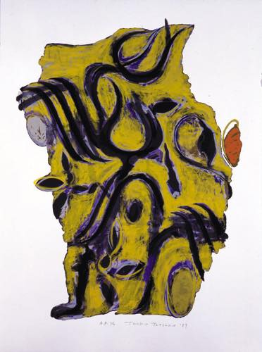 辰野登恵子 「May-19-89」, 1989, Silkscreen on paper, 76.0×56.0cm