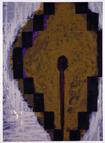 TOEKO TATSUNO 「Aug-6-89」, 1989, Silkscreen on paper, 50.8×61.0cm
