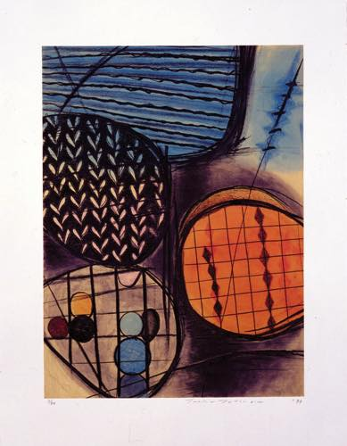 TOEKO TATSUNO 「Dec-17-93」, 1993, Etching on paper, 95.0×75.0cm