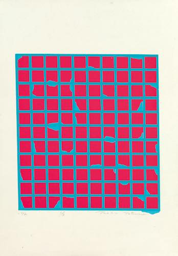 辰野登恵子 「作品Ⅴ」, 1972, Silkscreen on paper, 54.5×38.0cm