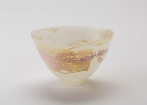 イイノナホ 香彩 01 ガラス、銀箔 φ14.3×h9 2019