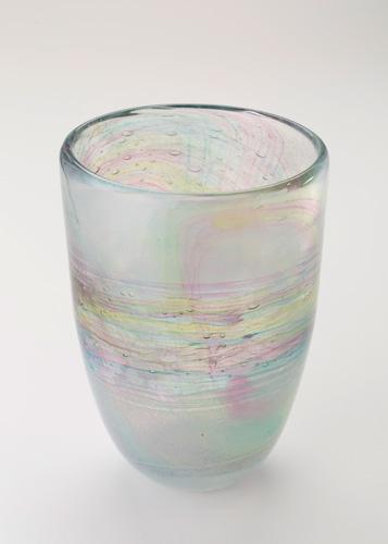 イイノナホ 時の素描1(花器) 2020 手吹きガラス Φ15.8×H21.9cm