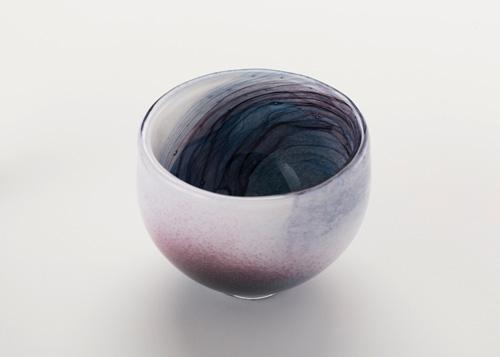 イイノナホ 時の素描3(抹茶碗-青) 2020 手吹きガラス Φ110.×H9.4cm