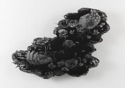 盛田亜耶 オフィーリアの手 2021 38.5×53.0cm