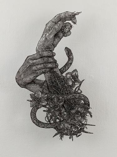 盛田亜耶 プロセルピナの手2 2021 44.0×31.0cm