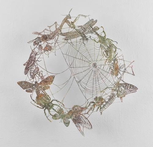 盛田亜耶 Insect Wheel 2021 40.0×37.0cm