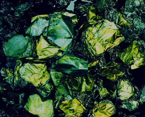 Eiji Ina - Waste, Nakano, Nagano Prefecture (Remains of Batteries after Incineration), 1997
