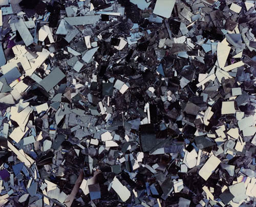 Eiji Ina - Waste, Nagano Prefecture (Hard Disks Broken in Pieces), 1997