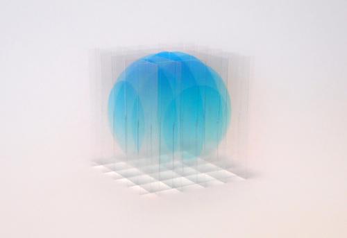 瀬川 剛  デッサン ヴォリューム: 透明性 Ⅲ -青- (大) 2017 ed.50インクジェットプリント、ポリエステル