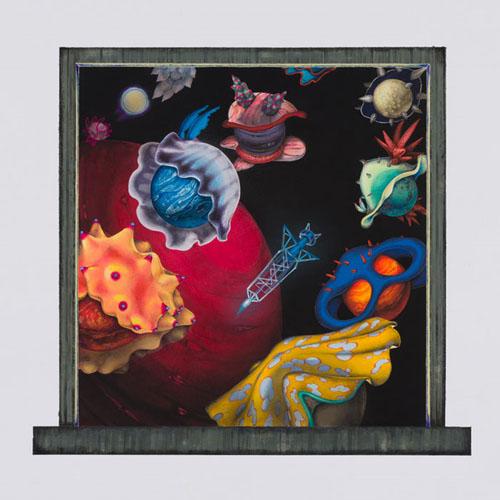 齋藤芽生 - 香星群アルデヒド「海中星団」, 2014, 31.6x34.2cm, アクリル、紙
