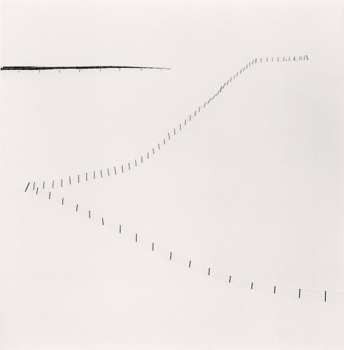 Michael Kenna - Hillside Fence, Study 6, Teshikaga, Hokkaido, Japan. 2007