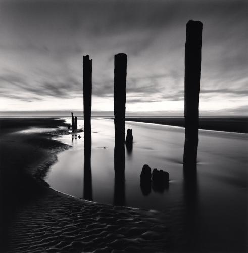 Michael Kenna - Last Pier Posts, Pacific Beach, Washington, USA. 2013
