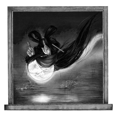 齋藤芽生 - 香星群アルデヒド「鬼女星」, 2014, 17.5x18.1cm, アクリル、紙