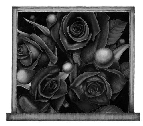 齋藤芽生 - 香星群アルデヒド「夜陰星」, 2014, 16.5x19.1cm, アクリル、紙
