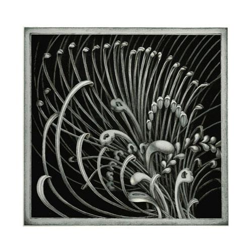 齋藤芽生 - 香星群アルデヒド「花縷々星」,2014, 15.6x16.2cm, アクリル、紙
