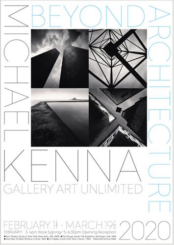 「マイケル・ケンナ:BEYOND ARCHITECTURE」展チラシ