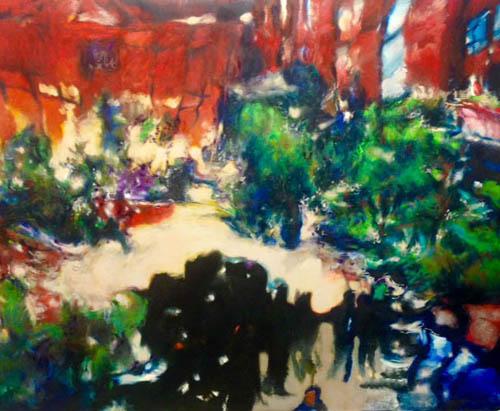 Tamana MOTEKI - 花祭りの夕闇-, 2014年, 油彩、カンヴァス, 100号