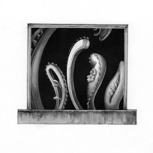 齋藤芽生 - 小香星群「むに星」(A04), アクリル、紙, 『新潮』2013年9月号