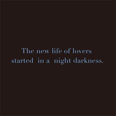 恋人たちの新しい生活は、夜の闇の中で始まった。